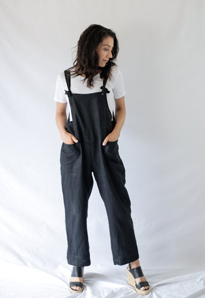 BROOKLYN OVERALLS - bambu road - linen clothing - comfortable chic - lifestyle collection - australian resort wear - australian brand clothing - coastal fashion