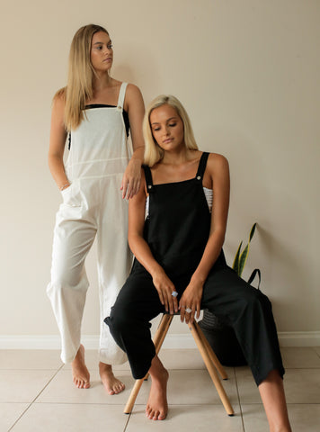 Old Brooklyn Overalls - bambu road - linen clothing - comfortable chic - lifestyle collection - australian resort wear - australian brand clothing - coastal fashion