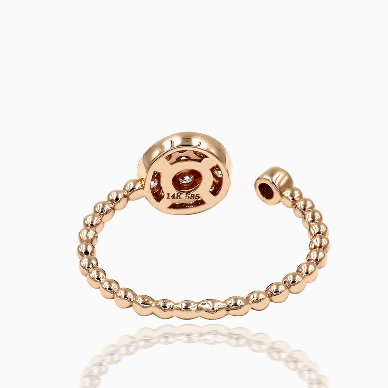 Rose Gold Diamond Stackable Ring