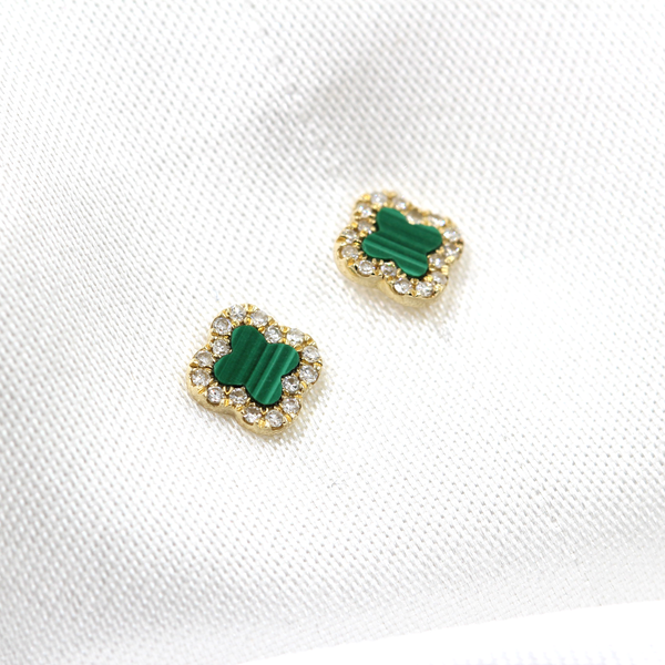 14k Clover Earrings