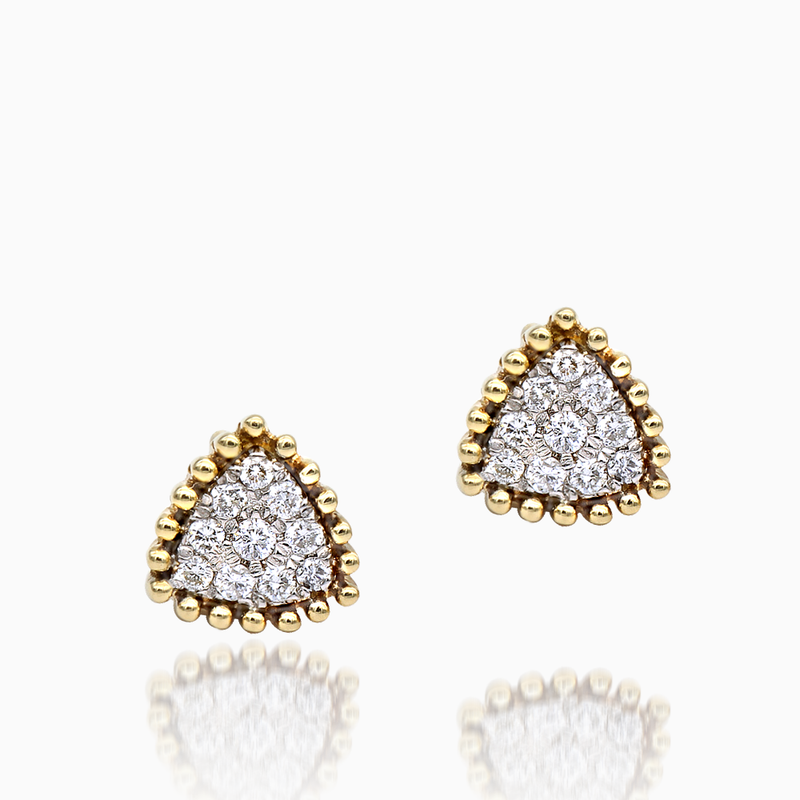 Triangular Diamond Earrings