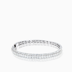 Garen Collection 14K Diamond Bangle