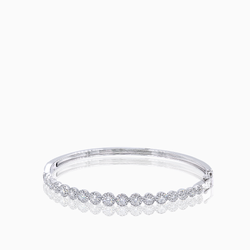 Diamond Disc Bangle