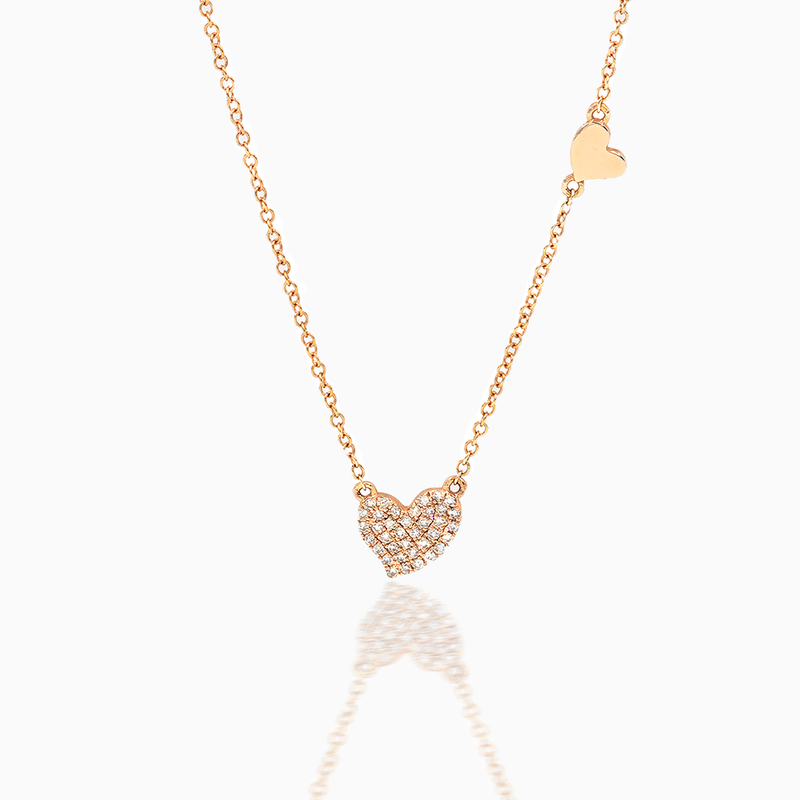 Handmade Heart Diamond Necklace