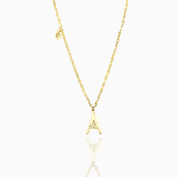 """A"" Diamond Necklace"