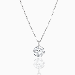 Floating Round Diamond Necklace
