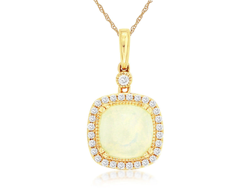 Diamond and Opal Pendant
