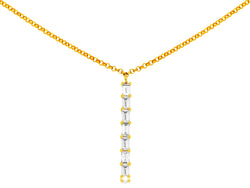 Long Bar Diamond Necklace