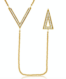 Trendy Diamond Y Necklace