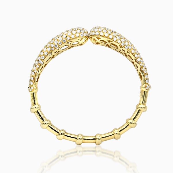 Diamond and Gold Cuff