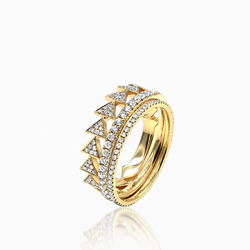 Eternity Band with Yellow Gold