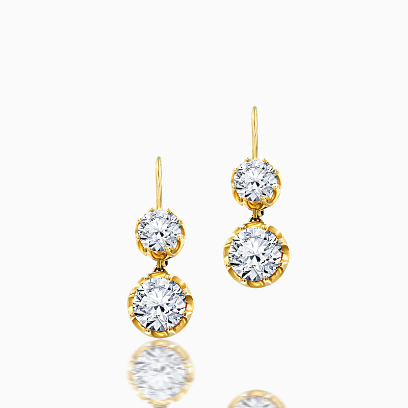 Ravishing Diamond Drop Earrings