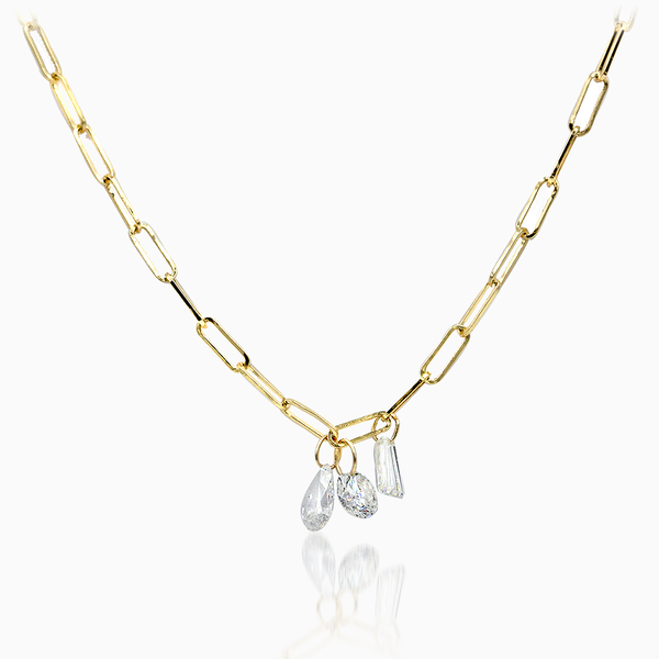 14K Yellow Gold Floating Necklace