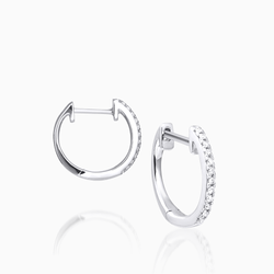 Diamond White Hug Earrings