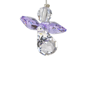 Light Amethyst Crystal Angel Suncatcher