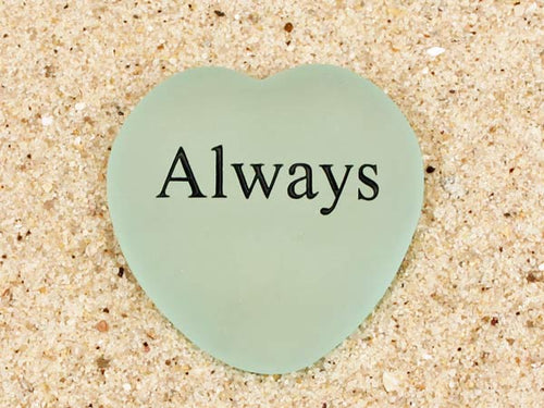 Always Engraved Sea Glass Heart
