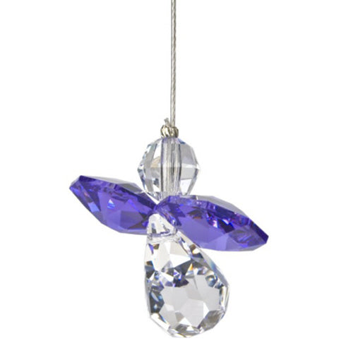 Amethyst Crystal Angel Suncatcher