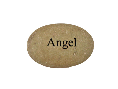 Angel Small Carved Beach Stone