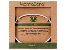 Load image into Gallery viewer, Balance Mantraband Cuff Bracelet
