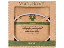 Load image into Gallery viewer, Believe Mantraband Cuff Bracelet