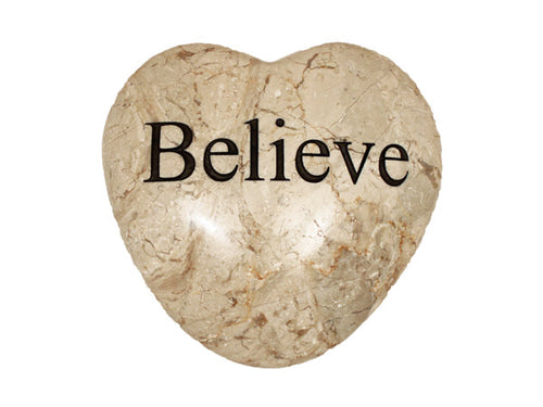 Believe Large Engraved Heart