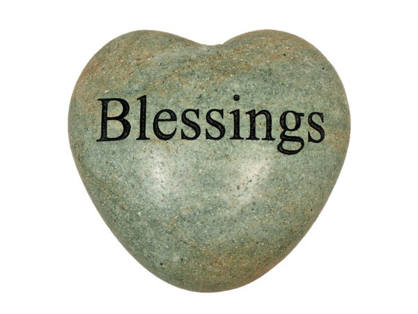 Blessings Large Engraved Heart