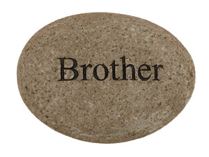 Brother Carved River Stone