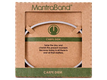 Load image into Gallery viewer, Carpe Diem Mantraband Cuff Bracelet