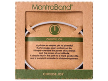 Load image into Gallery viewer, Choose Joy Mantraband Cuff Bracelet
