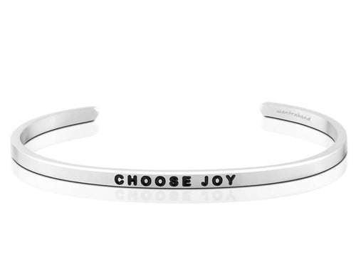 Choose Joy Mantraband Cuff Bracelet