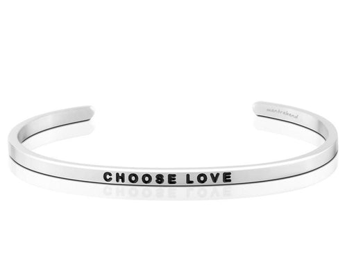 Choose Love Mantraband Cuff Bracelet