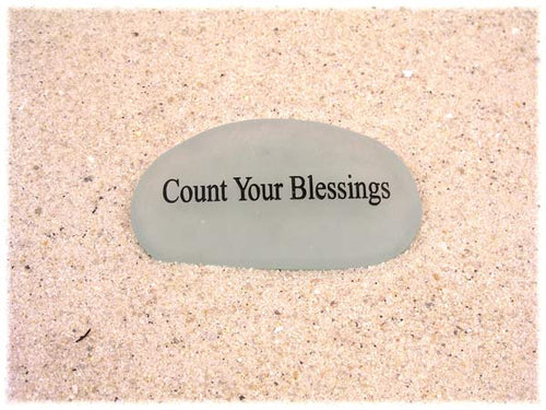 Count Your Blessings Sea Glass