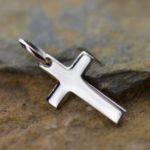 Sterling Silver Tiny Cross Charm
