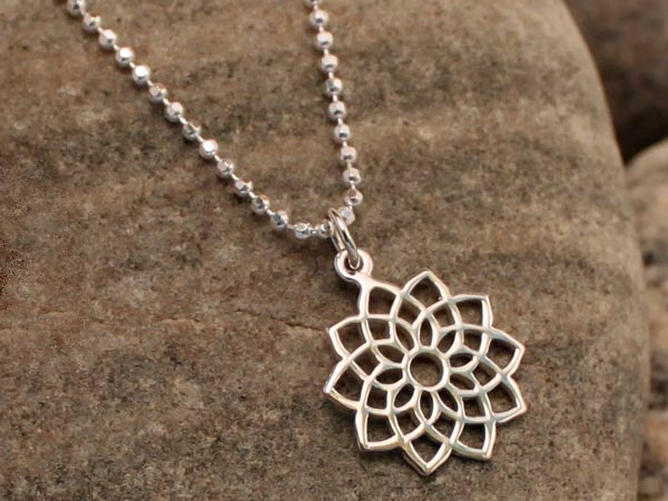 Sterling Silver Crown Chakra Necklace
