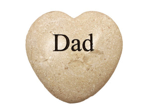 Dad Large Engraved Heart