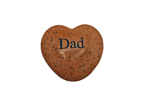 Dad Small Engraved Heart