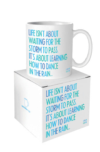 Quotable Dance in the Rain Mug