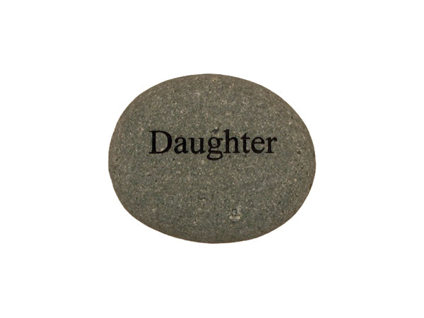 Daughter Small Carved Beach Stone