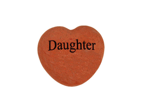 Daughter Small Engraved Heart