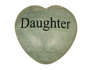 Daughter Large Engraved Heart