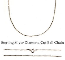 Load image into Gallery viewer, Sterling Silver D Initial Disk Charm
