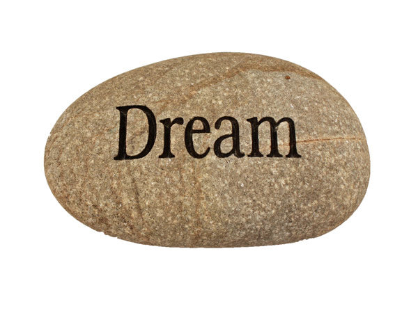 Dream Carved River Stone