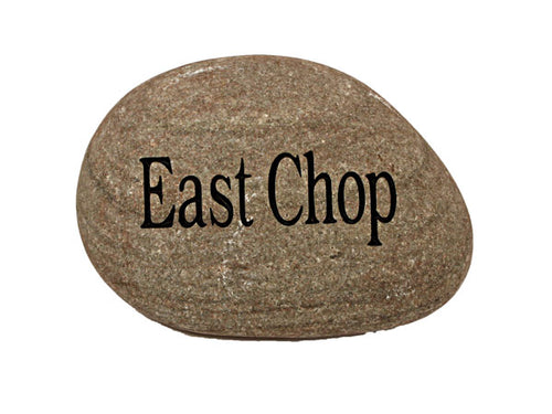 East Chop Carved River Stone