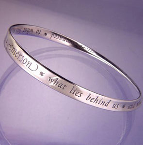 Sterling Silver Emerson What Lies Mobius Bracelet