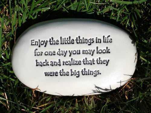 Enjoy The Little Things Clay Stone