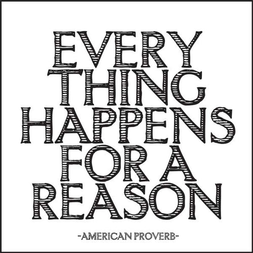 Everything Happens Quotable Card or Magnet