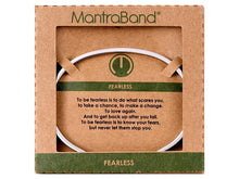 Load image into Gallery viewer, Fearless Mantraband Cuff Bracelet
