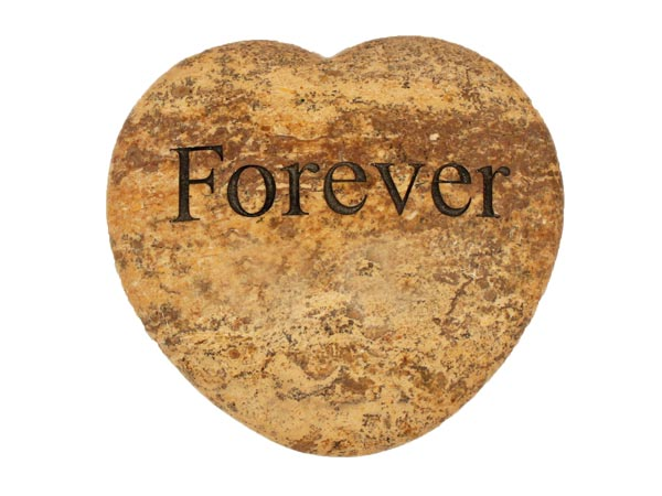 Forever Large Engraved Heart