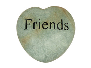 Friends Large Engraved Heart