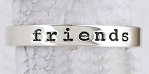 Sterling Silver Friends Forever Ring